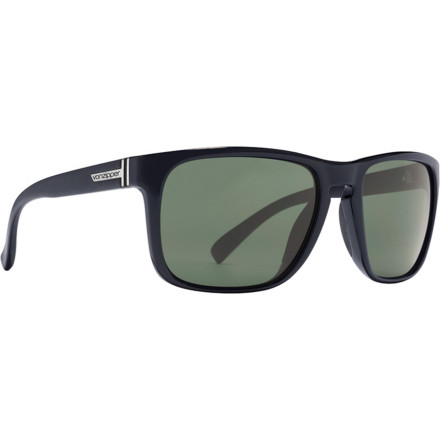 Entertainment Strangers are going to start asking you what band you're in when they see you walking around in the Von Zipper Lomax Sunglasses. That's because they have a classic look that oozes cool, and rubber nose and temple pads to keep them in place when you're rocking out in your room pretending you really are in a band. - $76.97