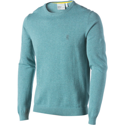The WeSC Anwar Sweater is perfect for convincing potential employers that you're fairly legit. Convincing your buddies that they're remembering wrong and that you aren't the one responsible for the toilet incident last night, however, is going to require more than just a classy sweater. - $33.57