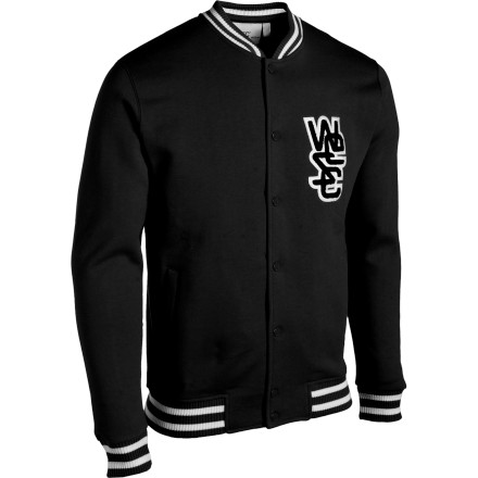 Sports Not to drop names, but the WeSC Warren Jacket is a favorite piece among WeSC WeActivists like super-snowboarder Jussi Oksanen, Scandinavian (and 4x Grammy award winner) Petter, and the legendary punk band Millencolin. We assume they like the WeSC Warren Jacket because of its baseball-inspired look, 330g poly-cotton fabric, and pocketsgotta have those! - $81.95