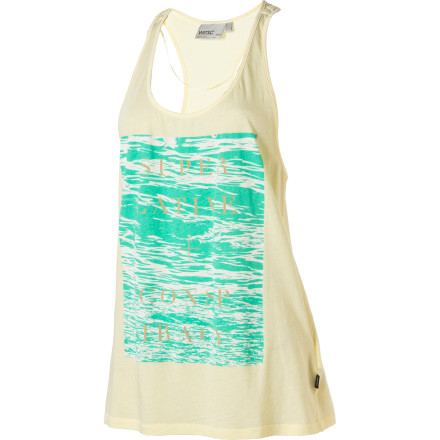 Surf Water, like well-executed typography, has the power to grab your attention and inspire your creativity. Find beauty in the everyday with the WeSC Women's Typographic Water Tank Top. - $14.98