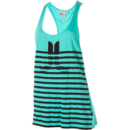 Surf The WeSC Women's Icon and Stripes Tank Top is like getting to the end of your coffee and finding enough change at the bottom for a refill. Just nevermind the fact that your coffee tasted like heavily handled currency. - $13.98