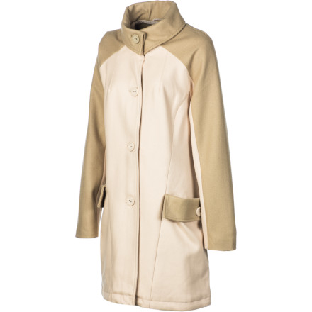 Entertainment The WeSC Women's Joannae Jacket is a military-inspired coat that swings with a modern edge. This super-chic button-up brings focused style and will keep you looking hot whether you wear it with a dress or a teeny-tiny pair of shorts. - $87.98