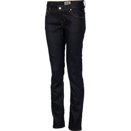 Entertainment WeSC gave the Women's Eve Denim Pants a tight fit and a low cut so you can show off that sweet shape in total style. The straight-leg cut will look great with boots, or you can shake things up by pegging the cuffs for a feel that is more hip than an art-house flick. - $39.58