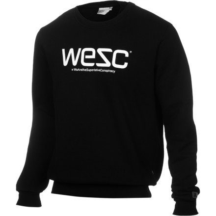 The WeSC Men\222s Crewneck Sweatshirt\227we don\222t have to spell this out for you, do we It\222s pretty obvious this is just a classic pullover sweatshirt with WeSC\222s mark. - $27.47