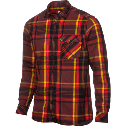 Skateboard Throw on the WeSC Men's Abdon Flannel Shirt and dial in your tree-chopping, flapjack-scarfing steeze. This cotton shirt brings the comfort while you try to figure out if you're all man or nothing of the sort. - $54.36