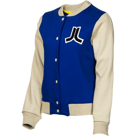 Entertainment The WeSC Women's Virginia Jacket channels a vintage high school feel that will make you want to skip class to drink beer in the back parking lot. Maybe, you can finally talk your love muffin into going steady with you. There's no way you'll get rejected now that you've earned your varsity letter in sexy. - $16.79