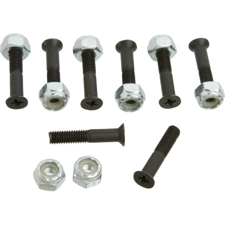 "Skateboard The Zero 1"" Bolts Hardware comes with either Allen or Phillips heads. The one-inch length is ideal for most setups, unless you use super-thick riser pads. - $1.58"