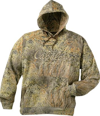 Hunting Treat yourself to the comfortable, soothing feel afforded by this cotton/polyester blend hooded sweatshirt. The material is 40% denser than other comparable camouflage sweats without the extra bulk or weight. Classic Cabela's script logo. Drawcord hood. Machine washable. Imported. Sizes: M-3XL. Camo patterns: Mossy Oak Break-Up Infinity, Mossy Oak Brush, Mossy Oak Obsession, Seclusion 3D, Seclusion 3D Open Country, Realtree AP, Realtree MAX-1. Type: Hoodies. Size: Large. Camo Pattern: SECLUSION 3-D. Size Large. Color Seclusion 3-D. - $20.88