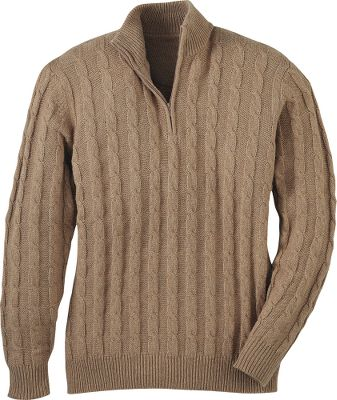 Get back to traditional sophistication. Crafted to the highest standards, these premium cable-knit sweaters match classic warmth with conservative distinction. Fully fashioned sleeves. Rib-knit collar, cuffs and sweep. 1/4-zip styling. 55% cotton/25% wool/20% polyester cable knit. Imported.Sizes: M-3XL.Colors: Red Earth, Teak. - $49.99