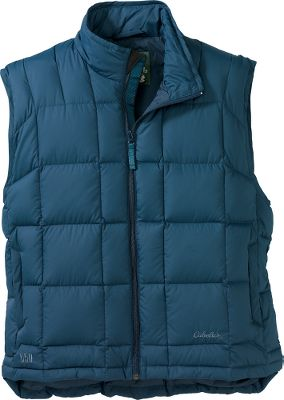 Our 650 Goose-Down Vest is unsurpassed in the industry when it comes to lightweight warmth. We ve set the bar even higher with updated fabric and style. We added a low-sheen, softer shell that is quieter and also has a durable water-repellent treatment. The high-loft 650-fill-power goose down creates a lightweight barrier of warmth that makes it a must for outdoor winter activity. On-seam handwarmer pockets. Features an interior storm flap, a wraparound chin guard and a drop tail for optimal heat retention. Imported. Sizes: S-3XL. Colors: Black, Dark Red, Dark Chestnut, Pine Green, Arctic Blue. - $34.88
