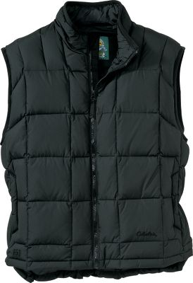 "Our 650 Goose-Down Vest is unsurpassed in the industry when it comes to lightweight warmth. We ve set the bar even higher with updated fabric and style. We added a low-sheen, softer shell that is quieter and also has a durable water-repellent treatment. The high-loft 650-fill-power goose down creates a lightweight barrier of warmth that makes it a must for outdoor winter activity. On-seam handwarmer pockets. Features an interior storm flap, a wraparound chin guard and a drop tail for optimal heat retention. Imported. Tall sizes: M-3XL. Extra 2"" body length. Colors: Black, Dark Red, Dark Chestnut, Pine Green, Arctic Blue, Infield Brown. - $34.88"