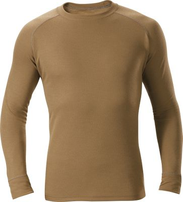 Hunting Ideal for fall hunting, our Medium-Weight Crew with Polartec Power Dry fabric keeps you dry and comfortable by effectively wicking moisture away from your skin. The antimicrobial fabric resists odors. High-loft grid channel back for maximum breathability. 100% polyester. Imported. Sizes: M-2XL.Color: Military Brown. - $39.99