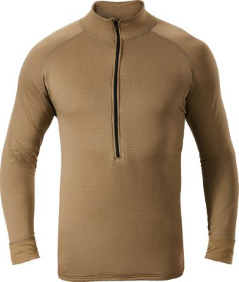 Entertainment Extreme cold conditions call for high-quality base layer to keep you warm and dry. Our heavyweight base layer utilizes Polartec Power Dry fabric that is optimized to move moisture away from the skin and dry quickly to keep you comfortable. High-loft grid-channel back delivers enhanced breathability. Antimicrobial treated. 93/7 polyester/spandex. Imported. Sizes: M-2XL.Color: Military Brown. - $14.88