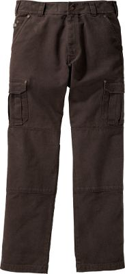 Ready for work or play, these pants are crafted of durable 100% cotton canvas. Front slash pockets, two back pockets, a tool pocket and loop, and roomy cargo pockets with hook-and-loop closures on each thigh. Antique-brass hardware throughout. Machine washable. Imported. Inseams: 30, 32. Waist sizes: 30-48 (even). Inseam: 34. Waist sizes: 32-42 (even). Colors: Buffalo, Evergreen, Landslide,RoughneckBrown. Size: 30. Color: Landslide. Gender: Male. Age Group: Adult. Material: Canvas. - $24.88