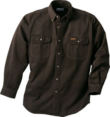 The microsanded, 7-1/2-oz. 100% cotton sandstone twill is tough enough for any job and is garment-washed for a soft, pre-worn feel. Six-button front placket and two chest pockets with button-through flaps. The left pocket features a handy pencil opening. Full cut so theyre perfect for layering. Imported. Sizes: L-3XL. Colors: Dark Brown, Midnight, Marsh, Carhartt Brown. Carhartt Style No.: S09. Size: X-Large. Color: Dark Cedar. Gender: Male. Age Group: Adult. Material: Twill. Type: Long-Sleeve Shirts. - $52.99