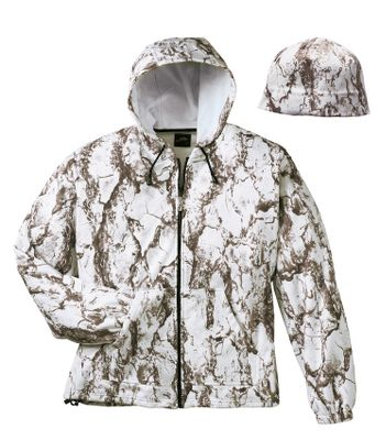 Hunting Put the exceptional warmth and whisper silence of fleece to work for you on your next hunt. This jacket is perfect as an outer layer on brisk days or as an extra layer during frigid hunts. Comes with a matching fleece watch cap. Imported. Sizes: M-3XL. Camo pattern: NaturalGear , NaturalGear Snow. - $28.88