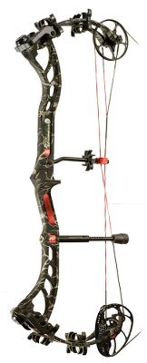 Hunting PSEs Bow Madness XS is already renowned for delivering outstanding performance in a compact compound bow, and now its even better. The Madness Pro cam now offers draw-length adjustments in 1/2 increments without a module change using PSEs posi-lock inner cam. The cam has also been optimized for an improved feel compared to preceding models. Light and compact, it has an axle-to-axle length of 29-1/4, which makes it easy to maneuver in blinds, treestands and cover. The bow ships with a 29 draw length and has an inner cam adjustment range of 25-30. Adjust the draw length with a simple inner module. Limb bolts can be backed out to optimize draw weight. Made in USA.Camo pattern: Skullworks. - $349.88
