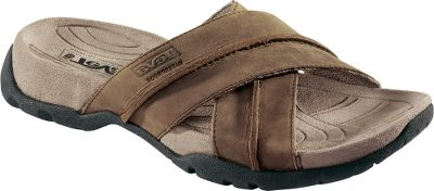 Entertainment Sutter Creek Slides combine Teva 's soft and rich-looking crossover leather uppers for added style and comfort. They sport a timeless style you'll want to wear out on the town, down the trail or around campus. After a long day on your feet, you'll appreciate the heel-cushioning Shoc Pad . Waterproof, full-grain leather uppers. Anatomically-shaped, molded EVA footbeds feature microfiber covers with antibacterial treatment. Imported.Men's sizes: 8-14. Half sizes to 12.Color: Cigar. - $24.88