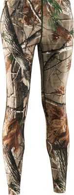 Hunting Under Armour Scent suppression neutralizes odor-causing microbes in these EVO ColdGear 87/13 polyester/elastane leggings. Fabric wicks away moisture for temperature regulation. Flatlock stitching helps eliminate chafing. Longer length. Imported.Sizes: S-2XL.Camo patterns: Realtree AP, Mossy Oak Break-Up Infinity, Realtree XTRA. Type: Base Layer Bottoms. Size: Large. Camo Pattern: REALTREE XTRA. Size Large. Color Realtree Xtra. - $49.88