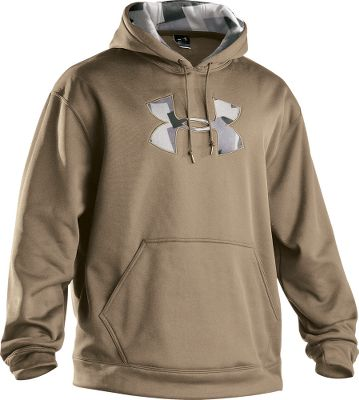 Fitness Built with thick 100% polyfleece to lock in warmth. This soft and lightweight ColdGear fabric wicks moisture away from skin and helps circulate body heat. Sports a kangaroo-style handwarmer pocket. Hood liner and logo feature an appliqu camo pattern. Imported.Sizes: M-3XL.Colors: Black/Aiger, Crimson/Aiger, Dune/Aiger, Rifle Green/Aiger, Academy/Aiger, Bureau/Brown Aiger. - $49.88