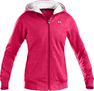 Fitness Near-weightless warmth for athletes who want a nonbulky alternative to a sweatshirt. Its revamped feminine shoulder seams and hood offer improved fit and style, while the longer hem provides a slimming look. Made of 8.64-oz. 100% polyester with ColdGear for moisture-managing, quick-drying performance. Low-profile, on-seam handwarmer pockets. Flat-ribbed waistband and cuffs. Imported. Sizes: S-XL. Colors: Bright Sky, Black/Hollywood, Hollywood, Moon Shadow, White/Moon Shadow. - $69.88