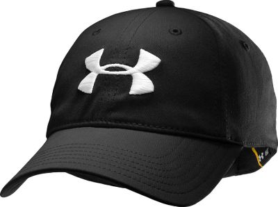 Fitness Head outdoors in a classic Under Armour cap equipped with a HeatGear sweatband for cooling, moisture-wicking comfort. Fitted, unstructured and made of 96/4 polyester/spandex. Embroidered logo. Snapping strap delivers a custom fit. One size fits most. Imported.Colors: Black, Smoke, Rifle Green. Type: Caps. Size: One Size Fits All. Color: Black. Size One Size Fits All. Color Black. - $10.88