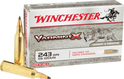 Hunting A high-performance round for the serious varmint hunter, Winchesters Varmint-X sets a new standard for long-range lethality. Polymer-tipped bullets deliver pinpoint accuracy and deadly fragmentation, ensuring optimal performance on varmints and predators. Quality components and exacting tolerances provide unmatched consistency. Made in USA. Per 20. - $15.99
