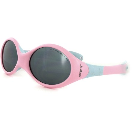 Entertainment There's no wrong way to wear these girls' Julbo Looping II symmetrically shaped sunglasses designed for infants and toddlers who spend time outside with mom and dad. - $32.00