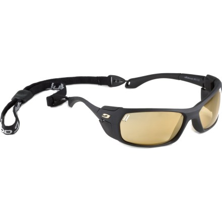 Camp and Hike The Julbo Bivouak with photochromic lenses prove that one pair of sunglasses really can do it all! Wear them in low to extreme light, on the glacier and on the trail for protection in any condition. - $180.00