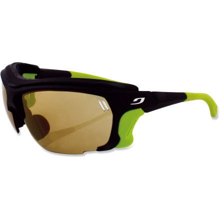 Camp and Hike From intense glare to low light and from basecamp to the summit, these Julbo Trek Zebra sunglasses with photochromic lenses are built for on the glacier protection in any condition. - $180.00