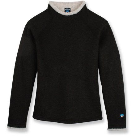 The Kuhl Stovepipe fleece top offers comfort and casual style that's sure to please. Stout acrylic/polyester blend fleece features a brushed inner face that is fuzzy and soft, keeping you toasty warm. Features a relaxed-fit design with raglan sleeves and mock turtleneck lined with soft fleece. Closeout. - $38.93