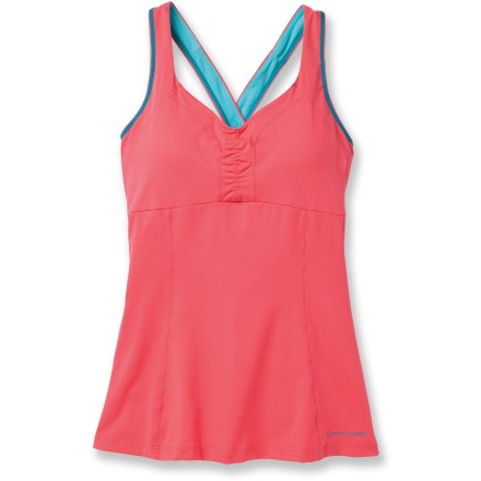 Fitness Great for indoor workouts and yoga ,the Moving Comfort Flow Crossback C/D tank top features performance fabric and an internal bra that provides light support. - $14.83