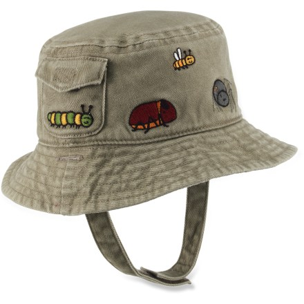 Entertainment The toddlers' REI Reversible Bug bucket hat is 2 hats in 1. Choose the solid side or a colorful plaid depending on your toddler's outfit or mood. - $9.83