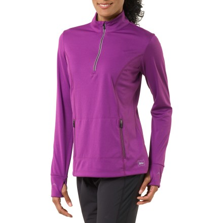 Ski The women's REI Winterflyte half-zip top offers just the right amount of protection for aerobic activities in cool weather - $14.83