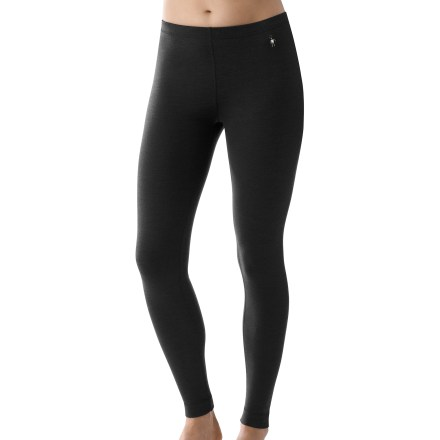 Ski The SmartWool Midweight long underwear bottoms for women are a great choice for layering under your ski or snowboard pants. Merino wool helps maintain comfort whether the climate is warm, cold or in-between. Chafe-free flatlock seams enhance comfort. Wide, women-specific waistband enhances fit. The SmartWool Midweight long underwear bottoms do not itch and will not shrink; machine wash and dry. Closeout. - $48.93