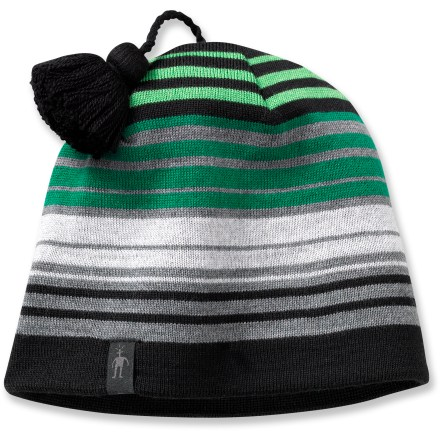 Ski Headed to the ski slope? Choose the SmartWool Straightline It hat for your next winter descent. Merino wool wicks away moisture and breathes to regulate temperature for outstanding comfort in a variety of conditions. Tassel at top. Closeout. - $11.73