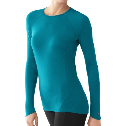 This SmartWool lightweight crew top offers amazing breathability for stop-and-go activities. Fine, jersey-knit merino SmartWool helps maintain a comfortable temperature whether the day is mild or cold. SmartWool(R) is guaranteed not to itch and can be repeatedly washed and dried without shrinking. Features crew neck and chafe-free flatlock seams throughout. Closeout. - $49.93