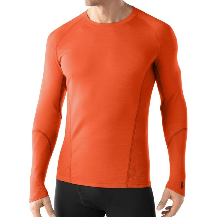 This men's lightweight crew top from SmartWool is the perfect choice for mild-weather activities. Fine, jersey-knit merino SmartWool helps maintain a comfortable temperature whether the day is hot, cold or in between. SmartWool is guaranteed not to itch; it can be repeatedly washed and dried without shrinking. Fabric provides UPF 35 sun protection, shielding skin from harmful ultraviolet rays. Chafe-free flatlock seams throughout. Machine washable. Closeout. - $49.93