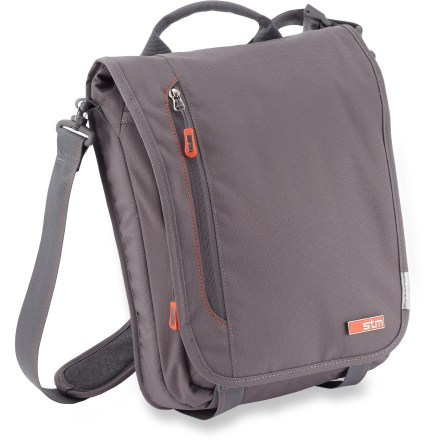 Entertainment A sleek and unobtrusive laptop carrier, the small-size STM Linear shoulder bag offers a convenient option for porting up to a 13 in. laptop without extra bulk or unnecessary features. - $47.93