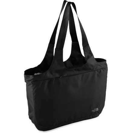 Entertainment Designed for everyday errands, The North Face Talia tote holds everything from your yoga mat to your beach towel to your laptop. Innovative exterior sleeve accommodates a yoga mat (not included). Internal organization in zippered main compartment keeps small items tidy. Zippered, padded laptop sleeve accommodates most 15 in. laptops. Front zippered pocket and side stash pocket. Soft shoulder straps make carrying The North Face Talia tote no sweat. Closeout. - $34.93