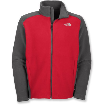 The North Face RDT 300 jacket for men includes FlashDry(TM) technology which allows the heavy fleece to insulate and keep you warm, but dries quickly so you stay comfortable. FlashDry technology wicks moisture away from the skin and transfers it to the outside for rapid evaporation. The North Face RDT 300 jacket features 2 zippered hand pockets for securing small essentials. Zip-in integration feature lets you zip jacket into compatible shells and parkas from The North Face. Closeout. - $64.93