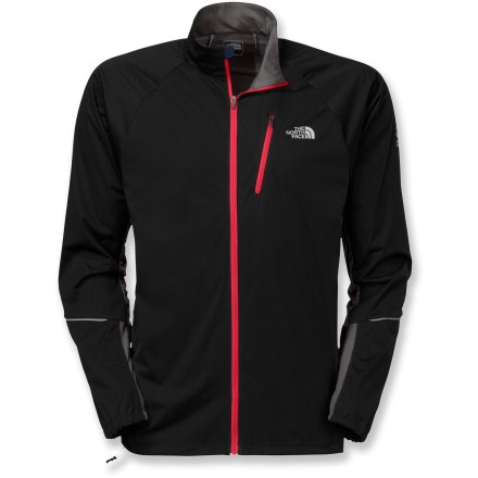 The North Face Apex Lite jacket resists water and wind without compromising breathability, making it ideal for cool weather runs. Polyester shell features FlashDry(TM) technology, dramatically improving dry time and breathability. Mesh ventilation promotes airflow, so you won't overheat. Zip chest pocket holds keys, ID and a gel. Cord hole in pocket lets you tote your tunes. The North Face Apex Lite jacket has reflective logos to boost your visibility to motorists. Closeout. - $51.73