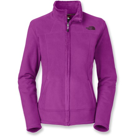 The North Face Morningside jacket is ideal for wearing in cold-weather urban settings when you want to add some style to a basic fleece jacket. Heavyweight fleece exterior has a super-silky fleece inside that adds coziness against skin and continues to insulate even when wet. With a UPF 50+ rating, fabric provides excellent protection against harmful ultraviolet rays. Small internal draft flap wraps up and around full-length front zipper to protect chin from abrasion. Drawcord hem seals in warmth. Finishing touches on The North Face Morningside jacket include 2 hand pockets and ergonomic seaming. Closeout. - $68.93