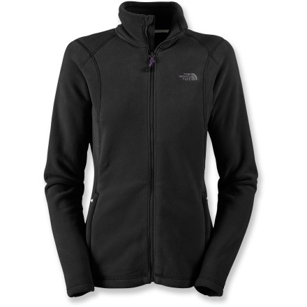 The North Face TKA 200 fleece jacket is equally suited to being a technical layering piece or a cozy top for lounging fireside after a big day on the trails. TKA 200 polyester fleece is thermally efficient and quick drying; plus, it resists pilling and fading, and holds its shape. Raglan sleeve design allows full range of motion and reduces binding underneath layers. Zippered handwarmer pockets help warm up chilly digits quickly. Flatlock seams offer flexibility and comfort. Closeout. - $57.93