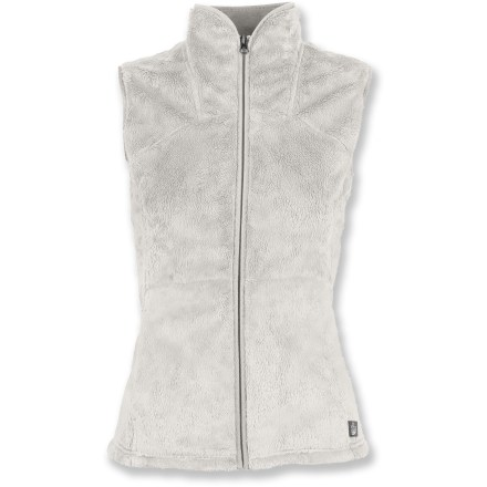 Luxuriously soft and warm, the Mossbud Acadia vest from The North Face presents stiff competition to the fleece tops already in your closet. But there's always room for one more, right?. Breathable, quick-drying and non-pilling polyester fleece offers warmth without a lot of weight. With a UPF 50+ rating, fabric provides excellent protection against harmful ultraviolet rays. Chamois fabric lines the collar, cuffs and hem for added comfort; full-length zipper and 2 zippered hand pockets. The North Face Mossbud Acadia vest features a semifitted cut that's not too loose or too tight. - $48.93