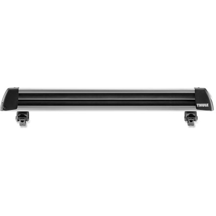 Ski Thule Universal Flat Top 6 ski carrier has a simple-to-use design that will securely carry up to 6 pairs of skis or up to 4 snowboards. - $159.93