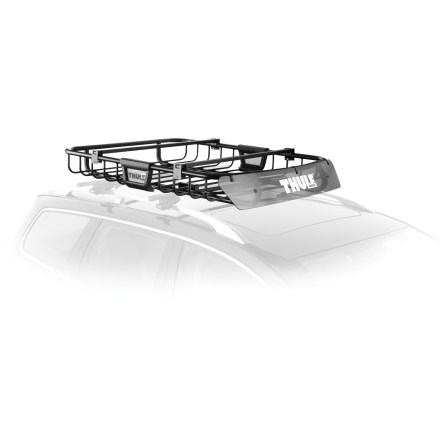 Ski The Thule M.O.A.B basket is built for the outdoor adventurer's lifestyle. Just pack your bags, bikes, boat and the kitchen sink--there's room for everything! - $303.89