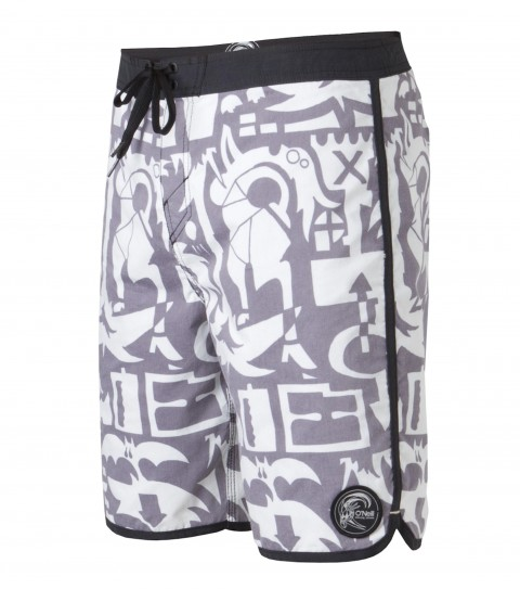 "Surf O'Neill Flora Boardshorts.  Speed-dry nylon. 19"" outseam.  Shortie boardshort features comfort fly closure; back pocket; edge binding and scalloped hem; woven patch; embroidery and screened logos. - $49.50"