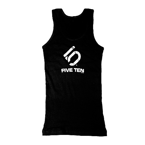 Surf Five Ten Women's 3Line Tank DECENT FEATURES of the Five Ten Women's 3Line Tank A classic form fitting tank Ribbed tank has the classic Five Ten 3 Line logo Metallic silver and the words FIVE TEN written below in white The SPECS Material: 100% Cotton - $29.95