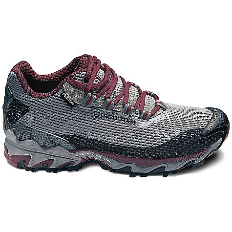 On Sale. Free Shipping. La Sportiva Women's Wildcat GTX Shoe DECENT FEATURES of the La Sportiva Women's Wildcat GTX Shoe Stretch Gore-Tex lining provides an excellent fit and waterproof protection Soft 2.4 mm Laspeva lasting board reduces impact forces Aggressive outsole bites into the trail and ensures excellent traction The SPECS Weight: 11.39 oz / 323 g Last: Fit: Tempo / Medium/Wide Lining: Gore-Tex Extended Comfort Footwear Sole: Frixion AT / Impact Brake System X-Axis H (mm): Heel: 28mm / Toe: 16mm / H: 12mm Cushioning MidsoIe: 32A The SPECS for Upper Air-Mesh Trail Cage TPU Transkinetic Heel Stabilizer UreTech reinforcements The SPECS for Midsole Memlex Nylon molded Flex Transfer shank 2.4mm Laspeva This product can only be shipped within the United States. Please don't hate us. - $96.99
